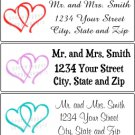 Personalized WEDDING Return Address Labels Party Supplies DOUBLE LINKED HEARTS