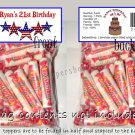Personalized 4TH OF JULY Birthday Party Favors Bags Toppers Supplies PATRIOTIC