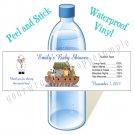Personalized NOAH'S ARK BABY SHOWER Water Bottle Labels WATERPROOF Birthday