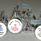 108 Personalized BABY SHOWER Kiss Labels Stickers Party Favors Candy Wrappers
