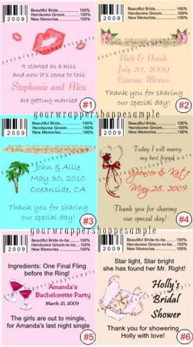 Personalized WEDDING Chap Stick Lip Balm Labels Party Supplies DESTINATION BEACH