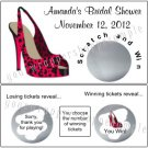 BACHELORETTE BRIDAL SHOWER LINGERIE Party Favor Scratch Off Tickets Game LEOPARD