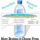 Personalized WEDDING BEACH WESTERN MONOGRAM Water Bottle Labels WATERPROOF