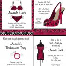 5x7 Personalized BACHELORETTE BRIDAL SHOWER LINGERIE ZEBRA Invitations Supplies