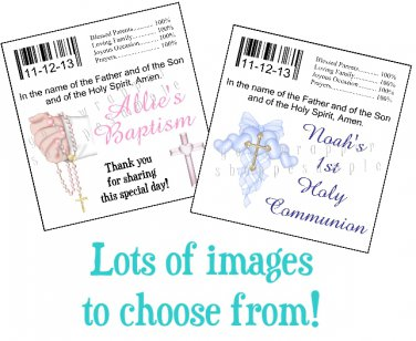 Personalized BAPTISM CHRISTENING Chap Stick Lip Balm Labels Party Supplies
