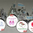 Personalized WEDDING Kiss Labels Candy Wrappers Party Supplies DESTINATION BEACH
