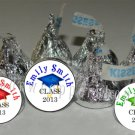 108 Personalized GRADUATION CAP Class of 2013 Kiss Labels Favors Candy Wrappers