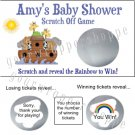 NOAH'S ARK Party Favors Scratch Off Tickets Game Supplies Birthday Baby Shower