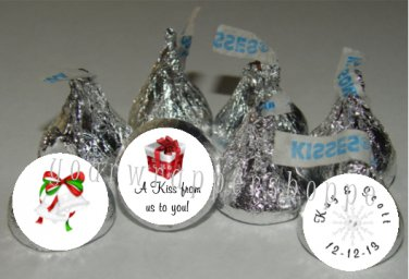 108 WINTER WEDDING Candy Kiss Labels Party Favors Supplies CHRISTMAS SNOWFLAKES
