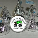 Personalized MONSTER TRUCK JAM Kiss Labels Favors Birthday Party Supplies