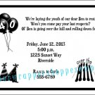 Personalized OVER THE HILL Adult Birthday Invitations Supplies 30th 40th 50th