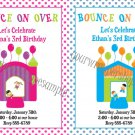 Personalized BOUNCE HOUSE INFLATABLE JUMPER Birthday Party Invitations Boy Girl