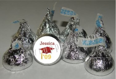 Personalized GRADUATION Kiss Labels Candy Wrappers Party Favors Supplies