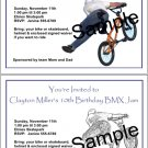 Personalized FREESTYLE BMX Birthday Party Invitations BIKES