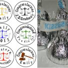 108 LAW SCHOOL GRADUATION Candy Wrappers Kiss Labels Party Favors Supplies
