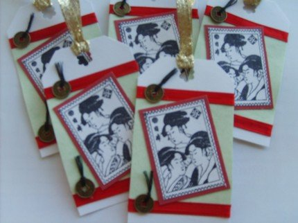 Geisha Tags (Set of 5)