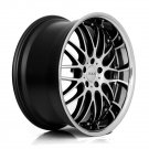 "20"" XIX Wheels X05 20x8.5 20x10 Fits Genesis Coupe 5x114.3 Machine Black"