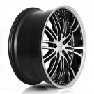 "20"" XIX Wheels X23 20x8.5 20x10 Machine Black Fits Mercedes-benz 5x112"