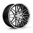 """20"""" XIX X25 Wheels 20x8.5 20x10 Machine Black Fits Audi 5x112"""