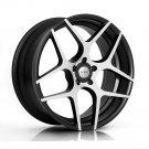 """20"""" XIX X35 Wheels  20x8.5 20x10 Machine Black Fits Audi 5x112"""