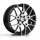 """20"""" XIX Wheels X37 20x8.5 20x10 Fits Infiniti Nissan 5x114.3 Machine Black"""