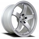"18"" NS WHEELS NS-NSM01 18x8.5 Machine Silver 5x100 5x114.3"