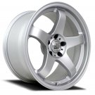 "18"" NS WHEELS NS-NSM01 18x10.5 Machine Silver 5x100 5x114.3"