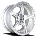 "15"" NS WHEELS NS-NSdc01 15x8.0 Machine Silver 8x100-114.3 C73.1"