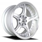 "16"" NS WHEELS NS-NSdc01 16x8.0 Machine Silver 8x100-114.3 C73.1"