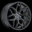 """19"""" Mach 8 Wheels Rims 19x8.5 19x9.5 Satin Black Fits  5x112"""