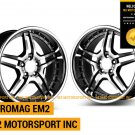 "20"" EUROMAG EM2 WHEELS 20X8.5 20X10 STAGGERED FITS MERCEDES BENZ CLK320 CLK350 CLK500 E320"