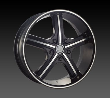 "22"" U2 55 Wheels  Rim 22x9.5  Machine Black 5x127"
