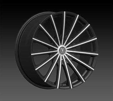 "20"" Velocity VW10 Wheels  Rim 20x7.5 Machine Black 5x112+114.3"