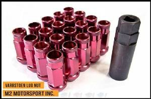 Varrstoen Vt48 Lug Nuts 12x1.25mm Extended Open RED