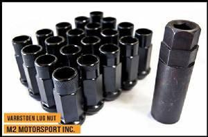 Varrstoen Vt48 Lug Nuts 12x1.5mm Extended Open Black