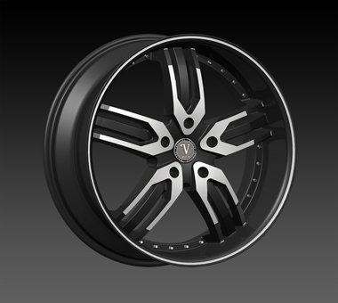 "24"" Velocity VW125 Wheels  Rim 22x9.5 Machine Black 5x127"