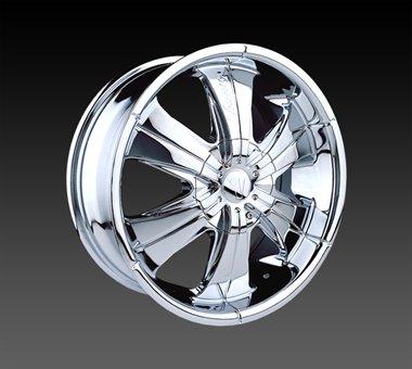 "24"" Velocity VW166 Wheels Chrome  Rim 24x9.5 Chrome 5x120"