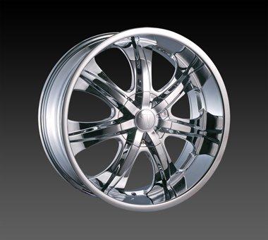 "24"" Velocity VW725 Wheels Chrome  Rim 24x9.5 Chrome 5x115"