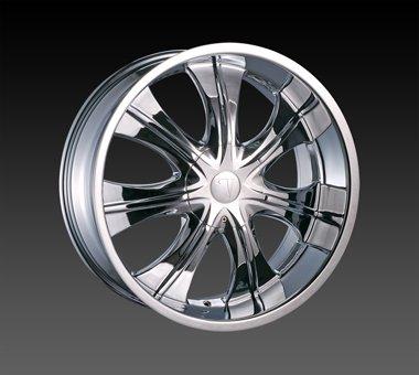 "24"" Velocity VW725 Wheels Chrome  Rim 24x10 Chrome 5x115"
