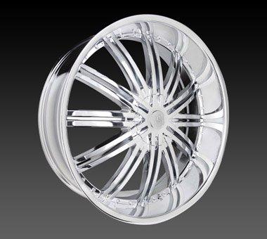 "24"" Red Sport Wheels Rsw 99 Chrome Rim 24x9.5 Offset 13 Chrome 5x135"