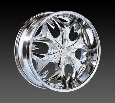 "20"" Borghini Wheels BW3  Chrome Rim 20x7.5 Offset 35 Chrome 4x100+114.3"
