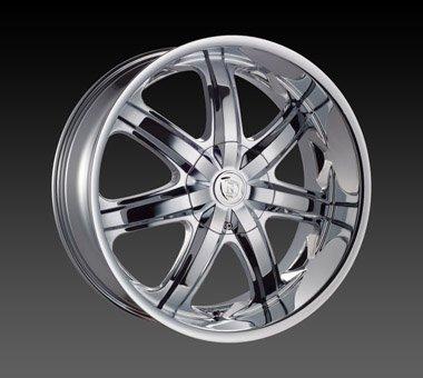"22"" Borghini Wheels BW7  Chrome Rim 22x8 Offset 35 Chrome 5x120"