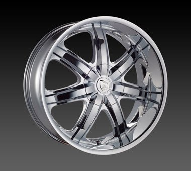 "24"" Borghini Wheels BW7  Chrome Rim 24x10 Offset 13 Chrome 5x127+135"