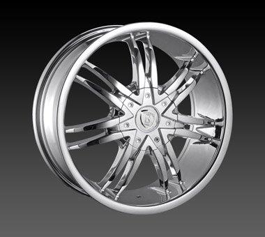 "22"" Borghini Wheels BW14  Chrome Rim 22x9.5 Offset 30 Chrome 6x127+139.7"