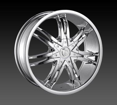 "24"" Borghini Wheels BW14  Chrome Rim 24x10 Offset 30 Chrome 6x135+139.7"