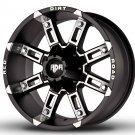 "18"" RDR Off Road THUNDER RD-06 Wheels Machined Black Truck Rim (1Set)"