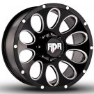 "20"" RDR Off Road ROCKY RD-02 Wheels Machined Black Truck Rim (1Set)"