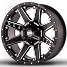 "20"" RDR Off Road USA RD-04 Wheels Machined Black Truck Rim (1Set)"