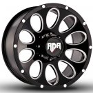"22"" RDR Off Road ROCKY RD-02 Wheels Machined Black Truck Rim (1Set)"