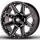 "22"" RDR Off Road USA RD-04 Wheels Machined Black Truck Rim (1Set)"
